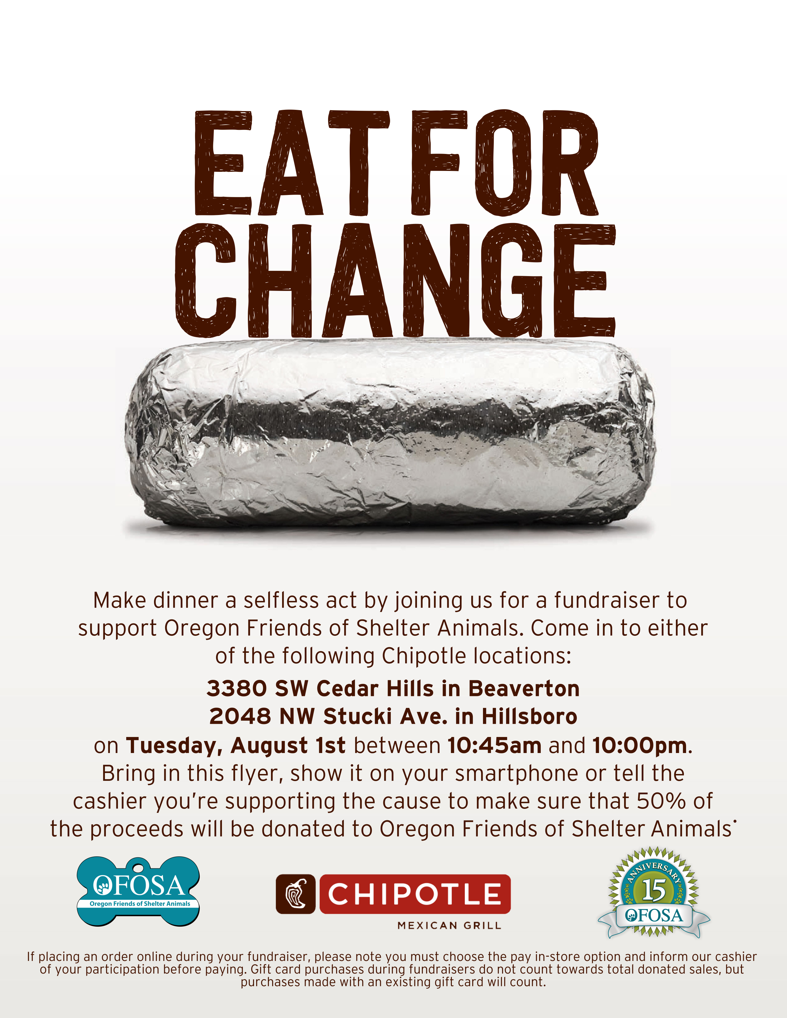 Chipotle Eat for a Change Fundraiser